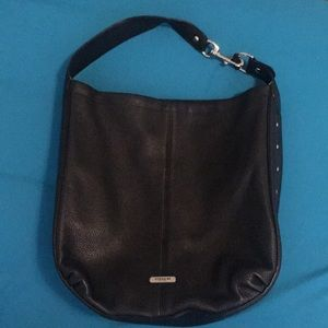 Black leather Coach bag.